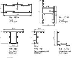 surme-seri-aluminyum-profiller